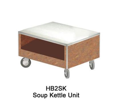 Duke HB2SK 7152-58 Soup Kettle Unit w/ Paint Grip Body & Bottom Shelf, Northern Oak