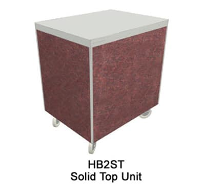 "Duke HB5ST 7008-43 74"" Solid Top Unit w/ Stainless Top & Paint Grip Body, Acajou Mahogany"