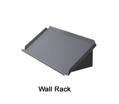 "Duke SD-4 84"" Solid Wall Mounted Shelving w/ Raised Ledges"