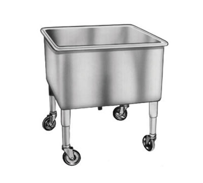 Duke SKS20 Portable Soak Sink w/ Casters, Stainless, 20x20x14""