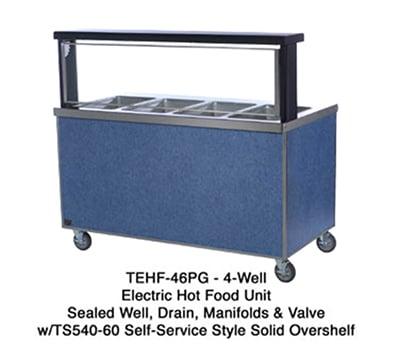 """Duke TEHF-32SS 32"""" Mobile Hot Food Unit w/ 2 Wells, All Stainless, 120 V"""