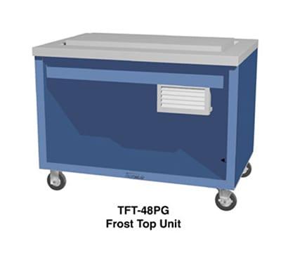 "Duke TFT-74PG 120 74"" Frost Top Unit w/ Drain, Paint Grip Body & Stainless Top, 120 V"