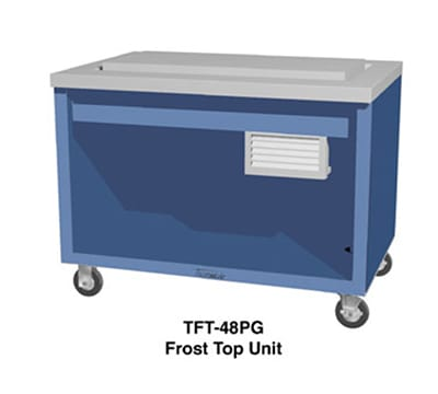 """Duke TFT-74SS 120 74"""" Frost Top Unit w/ Drain, Stainless Body & Stainless Top, 120 V"""