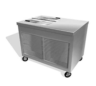 "Duke TIF-46SS 46"" Mobile Ice Cream Freezer w/ 4-Tub Capacity, 120v"