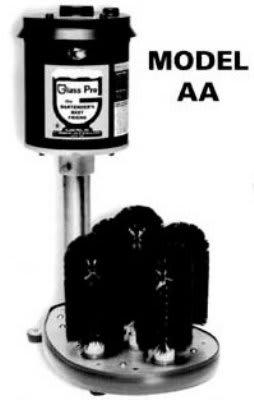 "Bar Maid AA-220V Upright Glass Washer w/ (4) 7"" Brushes & (1) 8"" Center Brush, Export"