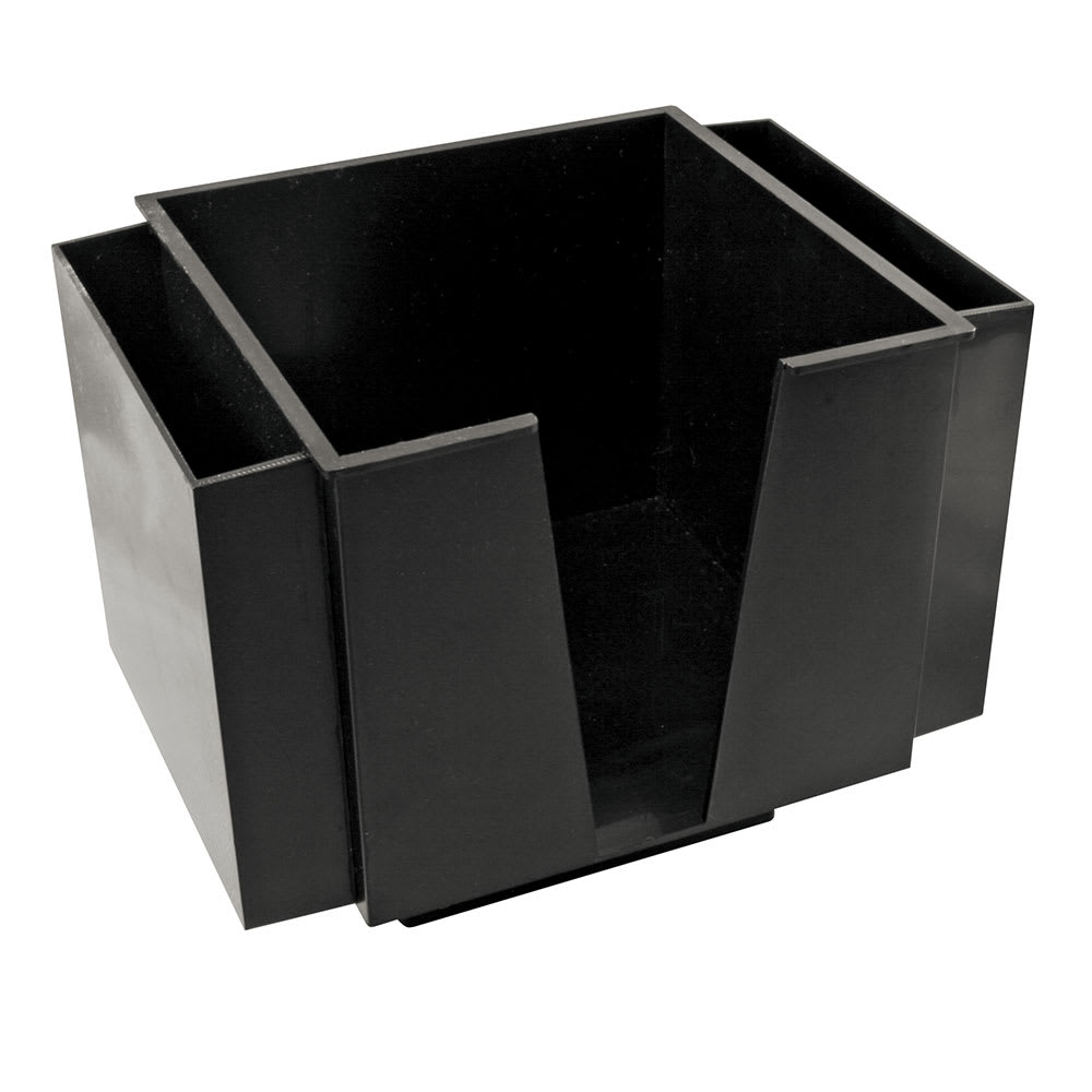 Bar Maid CR-1272 3-Compartment Tabletop Napkin Holder - Plastic, Black