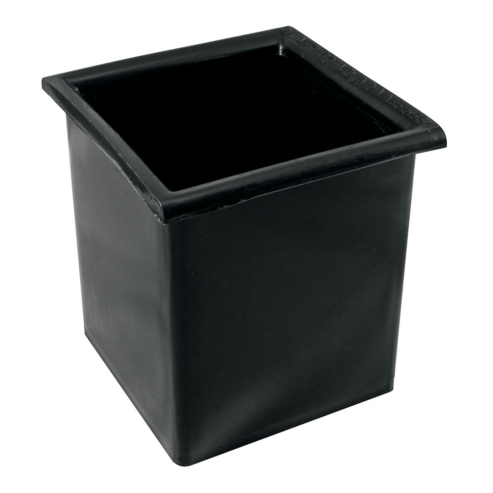 Bar Maid CR-2401 Square Bottle Well for Speed Rail or Ice Bin - Plastic, Black