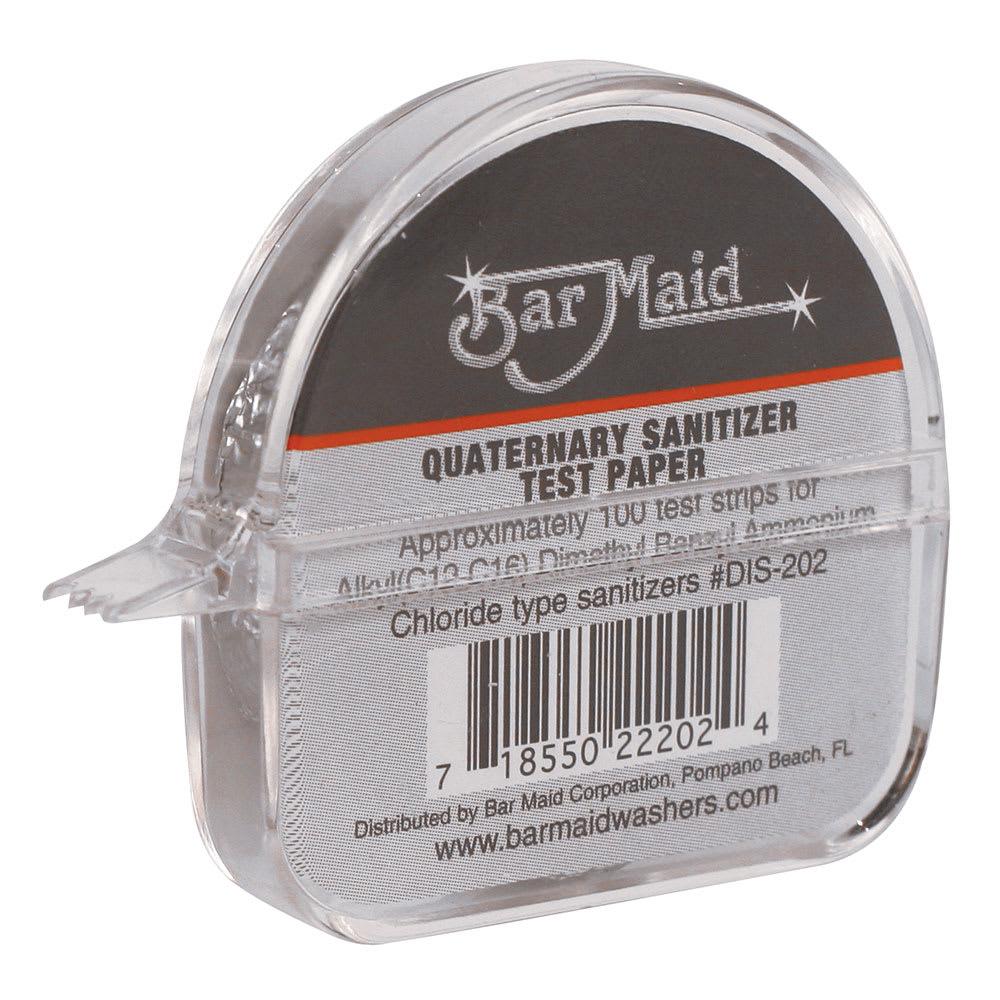 Bar Maid DIS-202 Sanitizer Test Strips Dispenser, Quaternary Strips, 100 Strips per Dispenser
