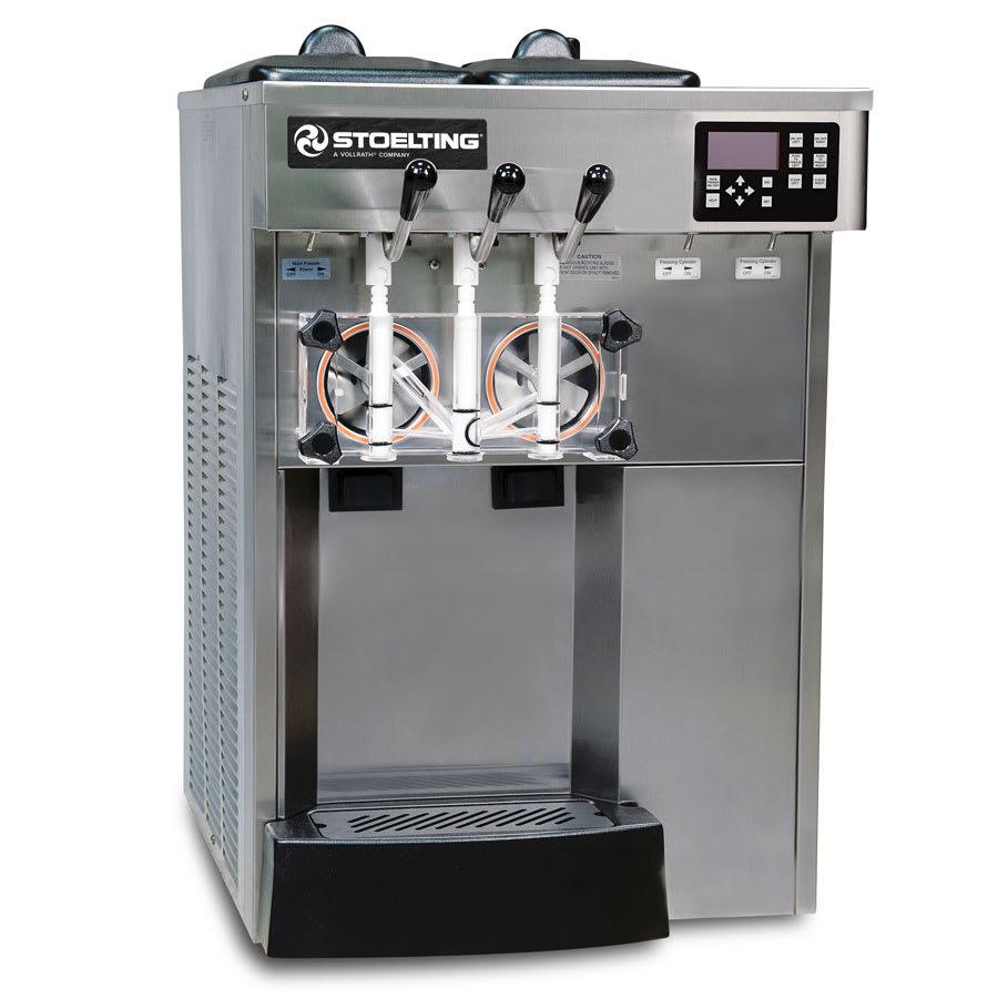 Stoelting E131-38I2 Soft-Serve Freezer, Air Cooled, (2) 12 qt Hopper, 208 240/1v