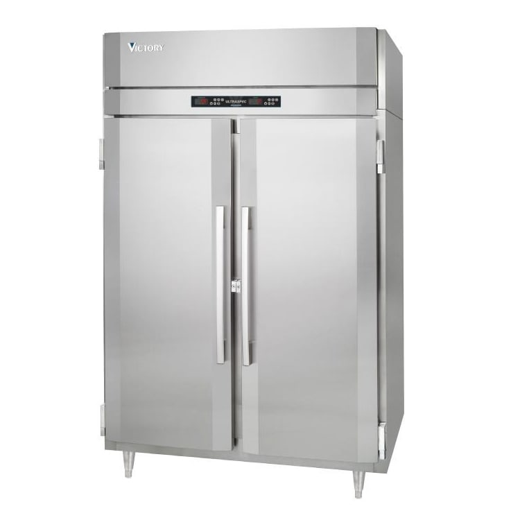 """Victory Refrigeration RFS-2D-S1 52.13"""" Two Section Commercial Refrigerator Freezer - Solid Doors, Top Compressor, 115v"""