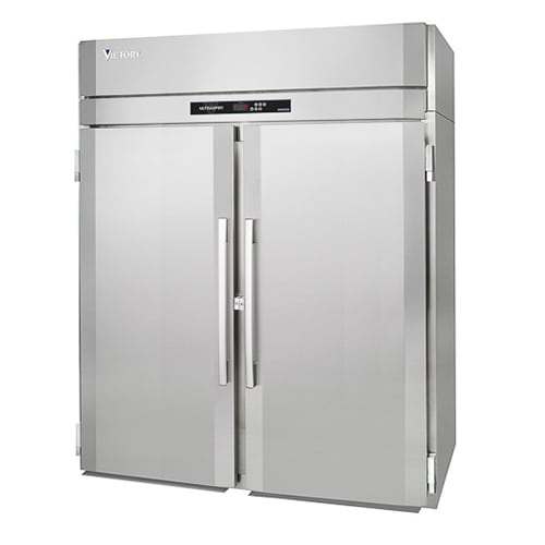 """Victory Refrigeration RIS-2D-S1 69"""" Two Section Roll In Refrigerator, (2) Left/Right Hinge Solid Doors, 115v"""