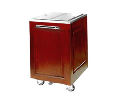 "FWE AS-IC-200-MW 200-lb Ice Caddy - Lift Up, Flat Top, 34.75"" H, Mahogany Wood"