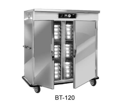 FWE BT-200-XL220 BT-Series Banquet Cart, 2-Door, 160-200-Plate Capacity, 12.375-in Max, 220/1V