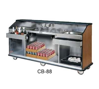 FWE CB-88 792307 Conventional Portable Bar, 98in L, Wraparound Bumper, Versailles Anigre.