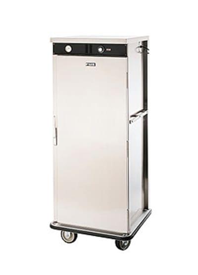 FWE E-480-XL220 E-Series Banquet Cart, 1-Door, 48-Plate Cap., 12.375-in Max, Stainless, 220/1V