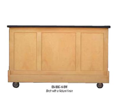 "FWE ES-BBC-5-BW Executive Series Portable Bar, 60"" L, 60lb Capacity Ice Bin, Stainless Int."