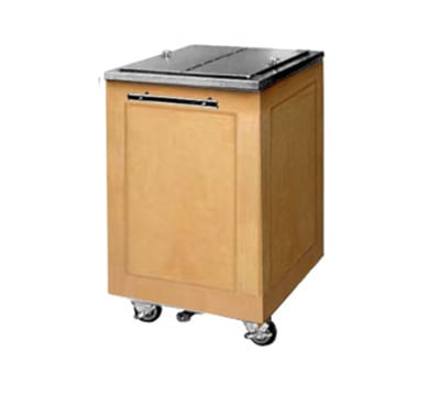 "FWE ES-IC-200-BW 200-lb Ice Caddy - Lift Up, Flat Top, 34.75"" H, Birch Wood"