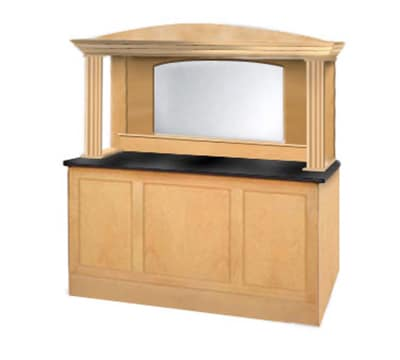 """FWE ES-PSC-6-BW 48"""" Portable Back Bar w/ Built-in Mirror & 3 Shelves, Executive Series"""