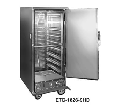 FWE ETC-1826-9HD Heated Transport Cabinet, Half Height, 9-Tray Capacity, Stainless, 220v/1ph