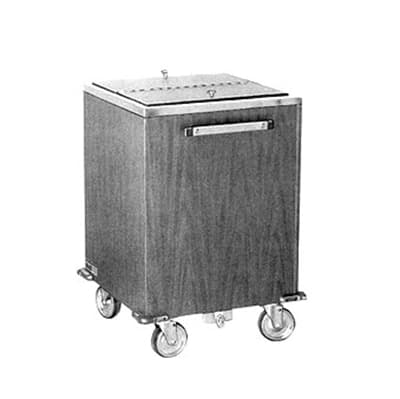 FWE IC-222 159560 Mobile Ice Bin w/ 200lb Cap., Insulated, Full Bumper, Stainless, Black