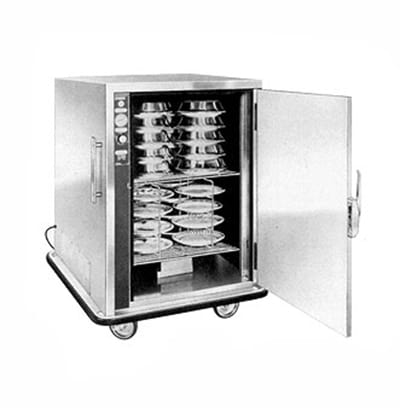 FWE P48 48-Plate Heated Meal Delivery Cart, 120v