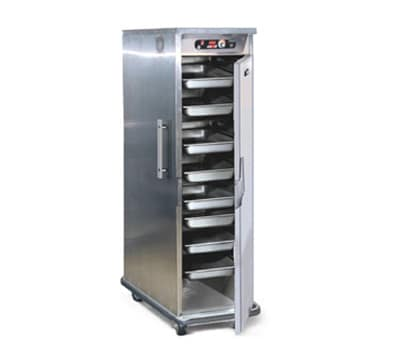 FWE PHTT-10220 Clymate Heated Cabinet, 10Univ. Tray Slides Mobile, Insulated, Stainless, 220/1V