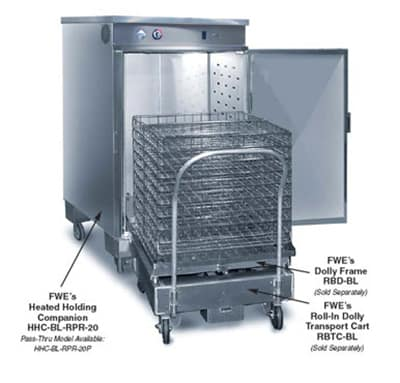 FWE RBD-BL Dolly Frame, Holds Rack for 13.5in x 26in Baskets, Stainless