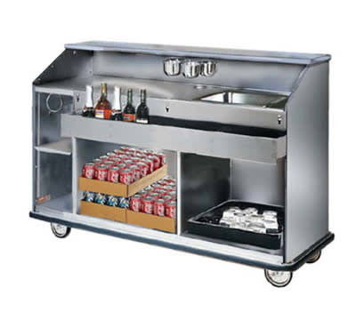 FWE SCB-55 Mobile Bar w/ Full Bumper, Convectional Beverage Service , 62-in L, Stainless