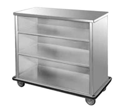FWE SPSC-88 Back Bar, 28.5x45.5x98in L, Full-Bumper, Welded Steel Frame, Stainless Interior.