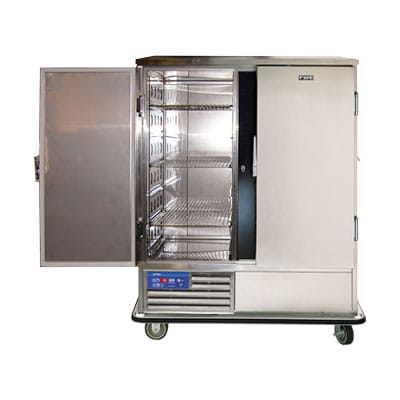 """FWE SR-60 57.5"""" Two Section Roll-In Refrigerator, (2) Solid Door, 220v"""