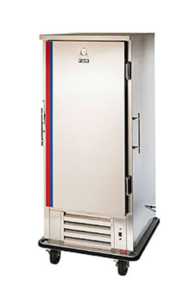 FWE UHRS-10220 Mobile Heated/Refrig. Convertible w/ 10-Univer. Pan Slides, Stainless, 220/1V