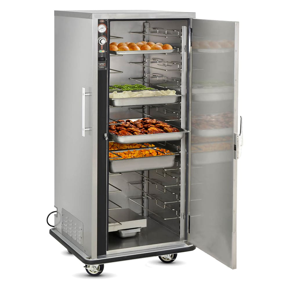 FWE UHS-12 Full Height Mobile Heated Cabinet w/ (12) Pan Capacity, 120v