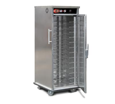 FWE UHST-13220 Mobile International Heated Server, 1-Door, 13-Pair Univer. Tray Slides, 220/1V