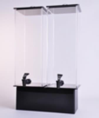 Jule-art 880-1851 Double Simple Drink Dispenser w/ 2-Gallon Capacity, Black & Clear