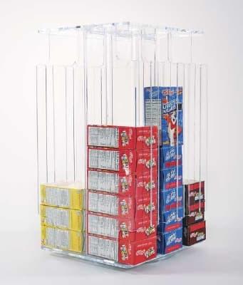 Jule-art 880-1860 Rotating Gravity Feed Cereal Box Dispenser w/ Lazy Susan Base