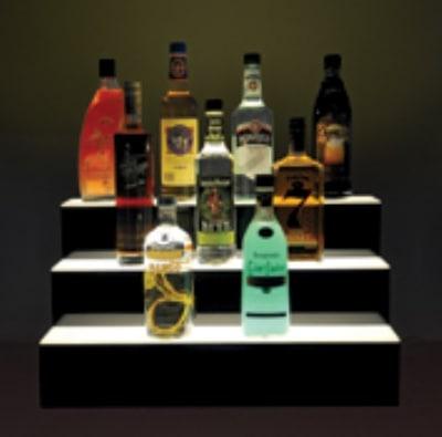 "Jule-art 880-1895 Lighted Bottle Stairs w/ 3-Steps & 21-Bottle Capacity, 24"" Wide"