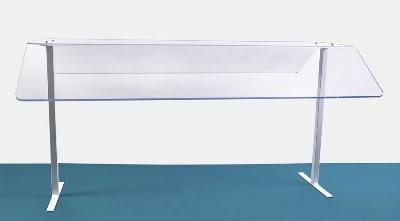 """Jule-art 880-1905 Freestanding Sneezeguard w/ 2-Sides, 24 x 48 x 30"""""""
