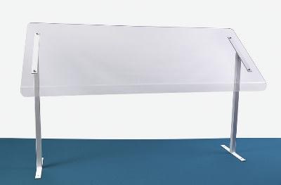 """Jule-art 880-1910 Freestanding Sneezeguard w/ 1-Side, 29.75 x 48 x 15.5"""""""