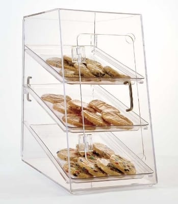 """Jule-art AFC10 Rear Opening Tray Cabinet w/ Angled Front & (3) 10 x 14"""" Trays"""
