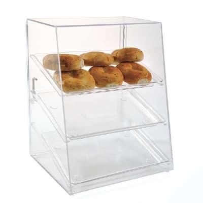"""Jule-art AFC10WD Wide Tray Cabinet w/ (3) 10 x 14"""" Trays, Front & Rear Doors"""