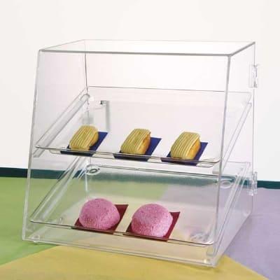"""Jule-art DTC10 Rear Opening Tray Cabinet w/ (2) 10 x 14"""" Trays & Slanted Front"""