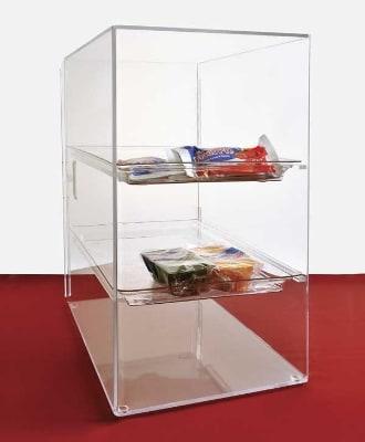 """Jule-art SFC10 Tray Cabinet w/ (3) 10 x 14"""" Tray & Straight Shelve, Access Door"""