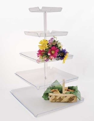 "Jule-art TRAYT5 Tray Tower w/ 5-Tiers & 8"" Spacing, 42 x 22 x 22"""