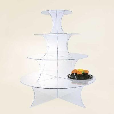 "Jule-art WCR4 Interlocking Wedding Cake Riser w/ 4-Shelves, 27.5"" High"