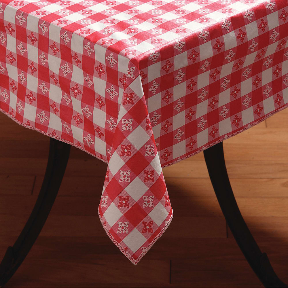 Marko 51515252sm001 52 Square Tablecloth Vinyl Red