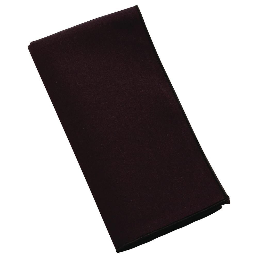 """Marko 53782020NM014 20"""" Square Napkin - Polyester, Black"""
