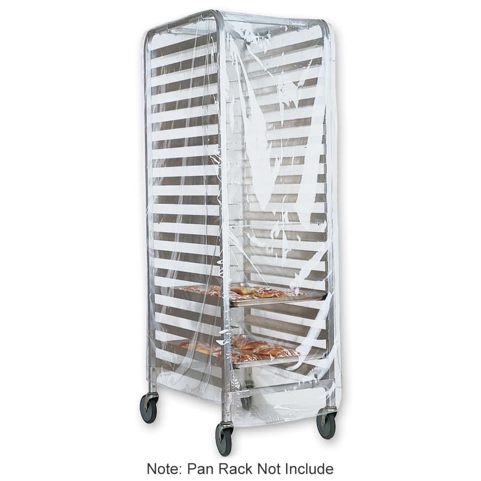"Marko 5675CL Pan Rack Cover - 22"" x 32"" x 61"", Clear"
