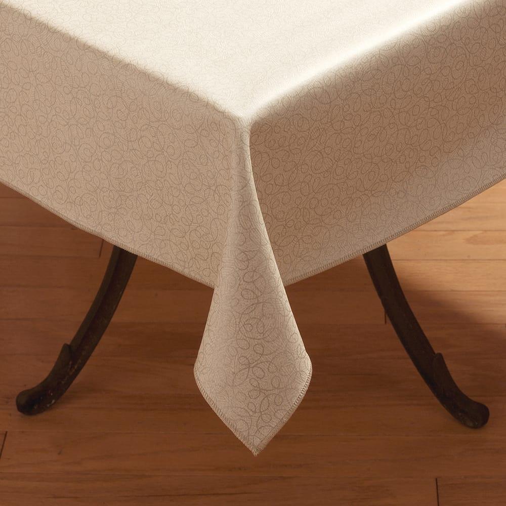 """Marko 59035252SM382 52"""" Square Tablecloth - Vinyl, Stone"""