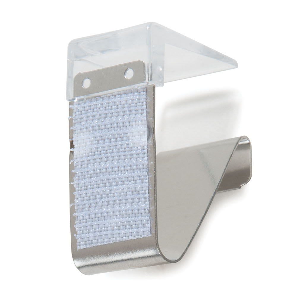 """Marko 5CC118MP-12 3/4"""" Skirting Clip w/ Velcro - Fits 3/8"""" to 1-1/4"""" Table Edges, Plastic"""