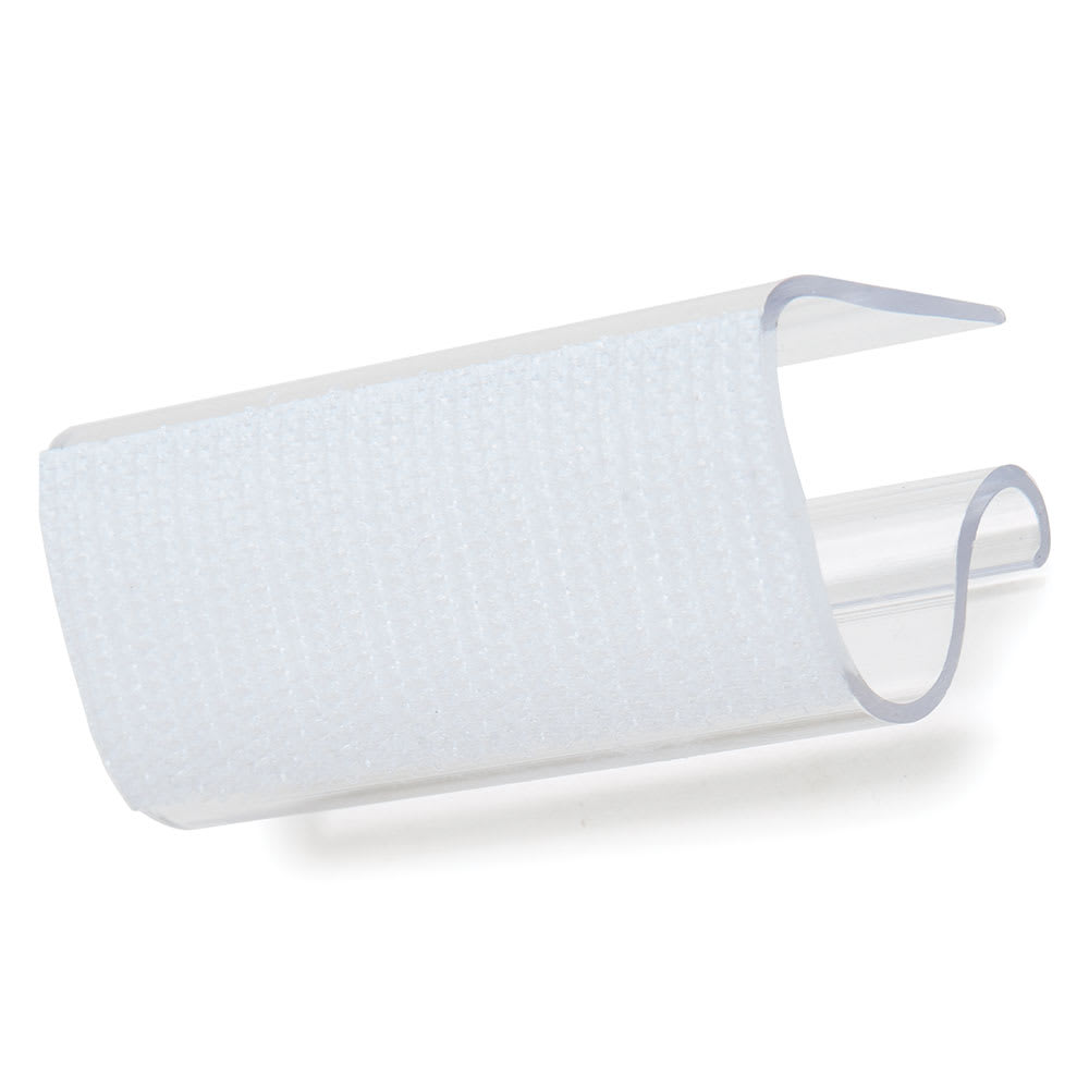 """Marko 5CC200PC-12 2.5"""" Skirting Clip w/ Velcro - Fits 3/8"""" to 3/4"""" Table Edges, Plastic"""